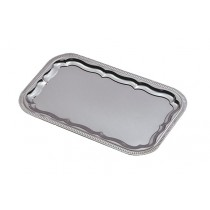 Plateau cuisine, réception métal chromé / nickelé, GN 1/1, 530 x 325 mm