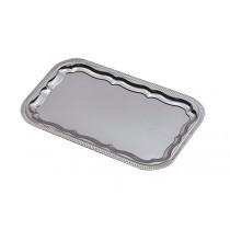 Plateau cuisine, réception métal chromé / nickelé, ovale, 455 x 340 mm