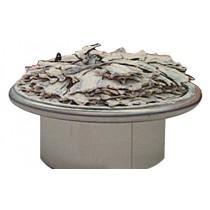 Vitrine ronde pour les poissons, inox AISI 304, P 1100 mm