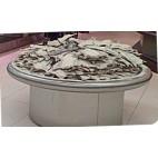 Vitrine ronde pour les poissons, inox AISI 304, profondeur 1100 mm