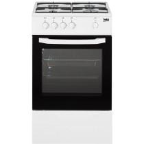 Piano de cuisson à gaz BEKO, couleur blanc, volume 56 L, L 500 x P 500 x H 850 mm