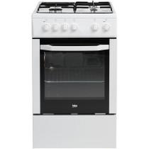 Cuisinière électrique BEKO CSS 53000 DW, blanc, 4 foyers