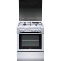 Cuisinière électrique INDESIT, couleur blanc, volume 63 L, L 600 x P 600 x H 850 mm