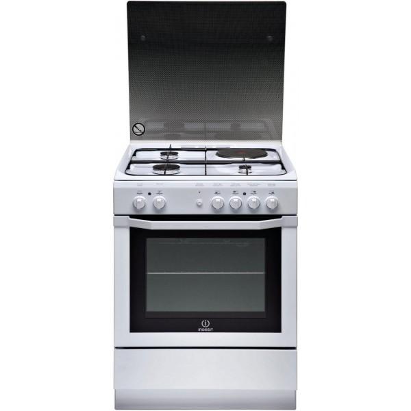 cuisini re lectrique indesit couleur blanc 4 foyers 63 litres stl sarl materiels. Black Bedroom Furniture Sets. Home Design Ideas