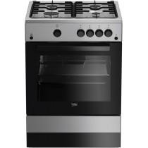 Cuisinière à gaz BEKO, en inox, volume 66 L, L 600 x P 600 x H 850 mm