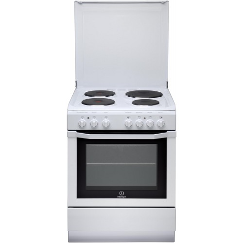 Cuisinière électrique INDESIT, couleur blanc, 4 foyers, 59 litres