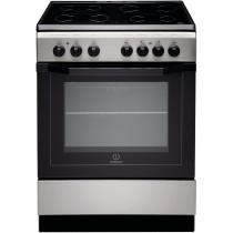 Cuisinière électrique INDESIT, en inox, volume 59 L, L 600 x P 600 x H 850 mm