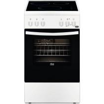 Cuisinière induction FAURE, couleur blanc, 3 foyers, 54 litres