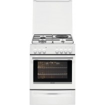 Cuisinière électrique BRANDT BCM 6652 W, 57 L, 4 foyers, puissance totale foyers 7850 W