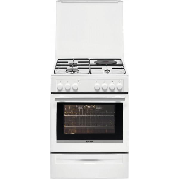 cuisini re lectrique brandt couleur blanc 4 foyers 57. Black Bedroom Furniture Sets. Home Design Ideas