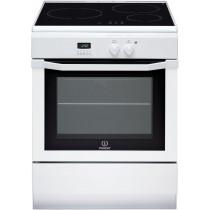 Cuisinière électrique INDESIT, couleur blanc, 3 foyers, 59 litres