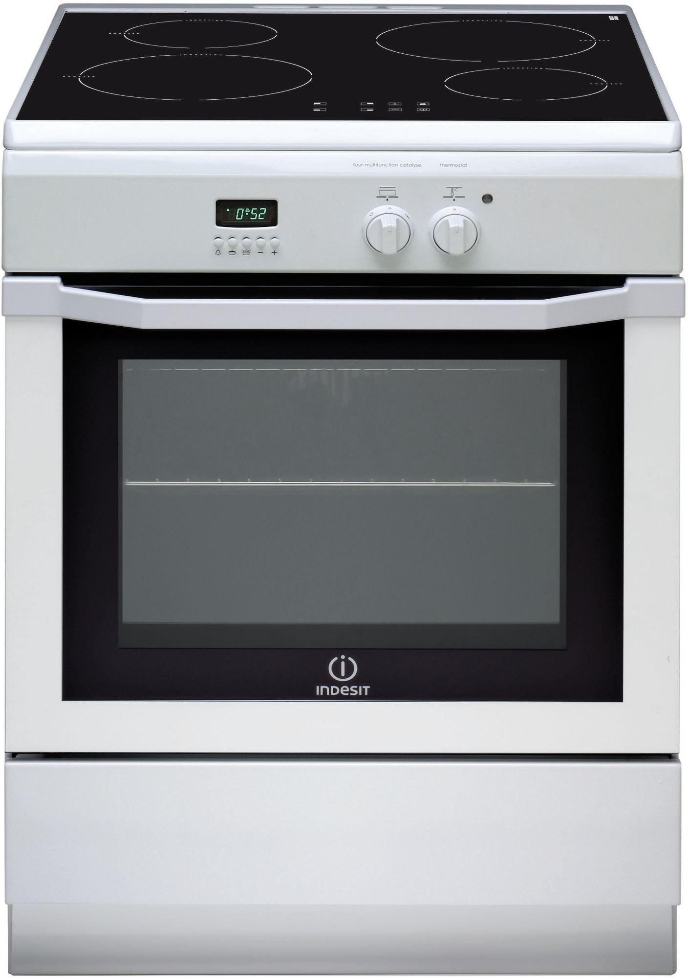 cuisini re induction indesit couleur blanc 59 litres 4 foyers stl sarl materiels. Black Bedroom Furniture Sets. Home Design Ideas