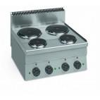 Cuisinière Electrique , LIGNE 600,ME 60,Table Electrique, L 600 x P 600 x H 850 mm