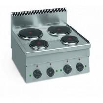 Cuisinière électrique, gamme 600, ME 60, 4 plaques, 8.2 kW