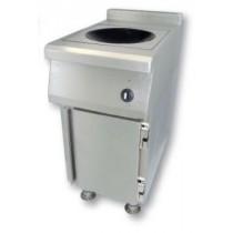 Meuble induction sur mesure 1 wok, gamme modulaire, modèle B, L 400 x P 700 x H 900 mm