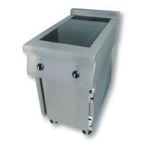 Meuble induction sur mesure 2 feux, gamme modulaire, modèle C, L 500 x P 900 x H 900 mm