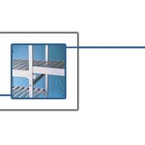 Set étagère en L pour armoire démontable, 4 niveaux, profondeur 360 mm