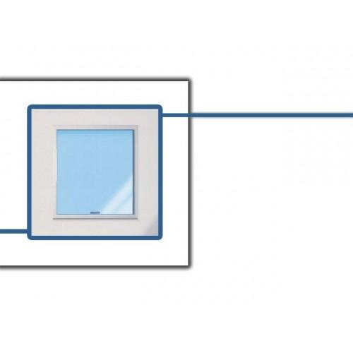 Fenêtre vitrée en aluminium, FX L 120 x P 120 mm