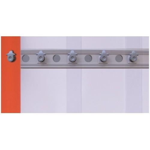 Rideaux à lanière fixe à suspension composite 2620, RIDEAU POS, pour  chambre froide positive, L 1390 x H 2580 mm