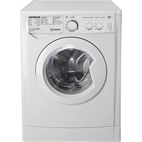 Lave-linge INDESIT, couleur blanc, capacité 7 Kg