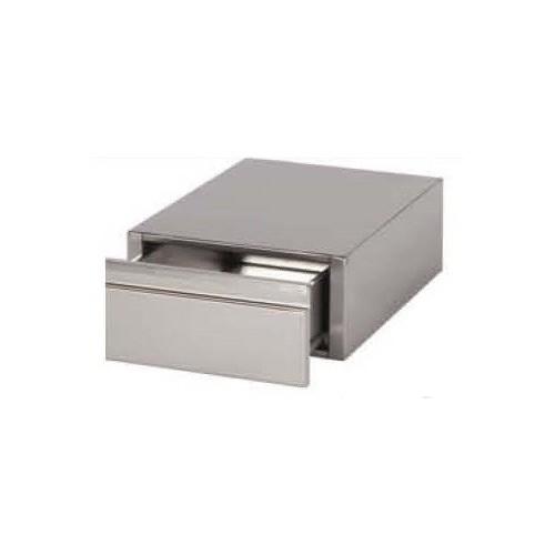 Bloc 1 tiroir monobloc inox AISI 304, pour table démontable de P 600 mm