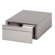 Bloc 1 tiroir sur glissières télescopiques GN1/1-100, 400X660X100  pour table de profondeur 700