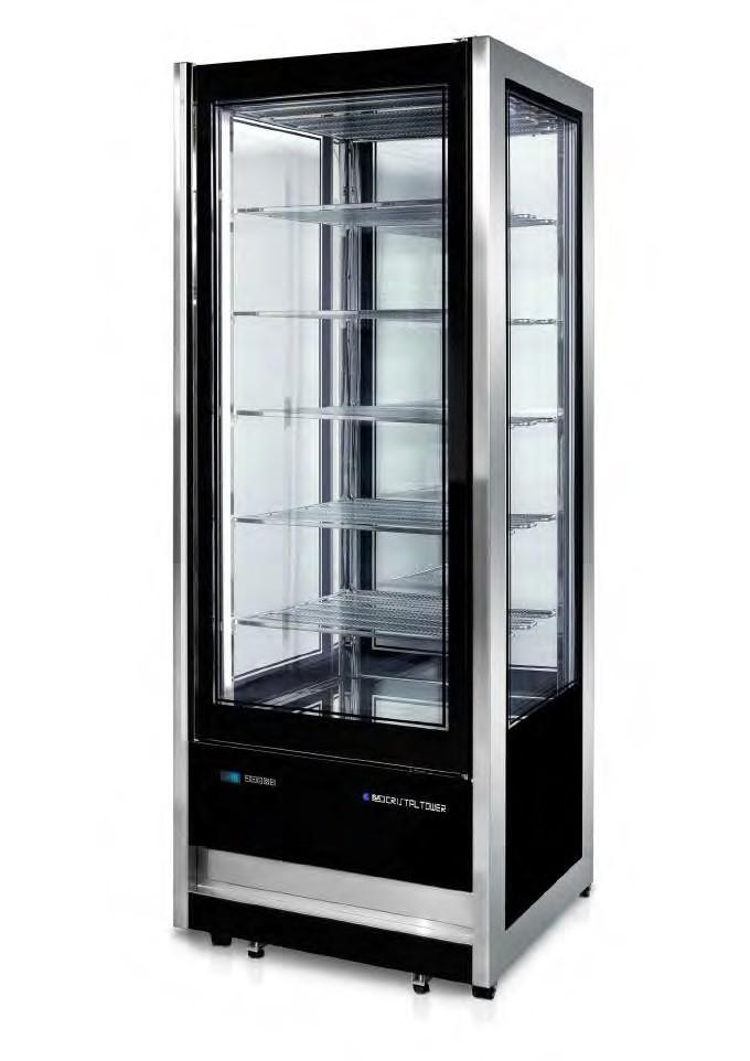 Vitrine D Exposition Modele Cristal Tower Rv 725 Tb Tn 4 Faces Vitrees 510 372 L 10 18 C Stl Sarl Materiels Cuisine Com