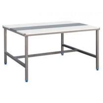 Table de découpe face à face avec alèse inox 1200 X 1800 X 850