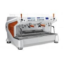 "Machine à café professionnelle traditionnelle, CONTI Monte Carlo ""WOOD&WHITE"" 2 groupes"