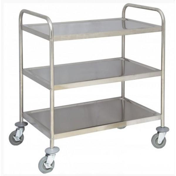 Chariot de desserte pour cuisine en inox 2 ou 3 plateaux for Materiel de cuisine en ligne