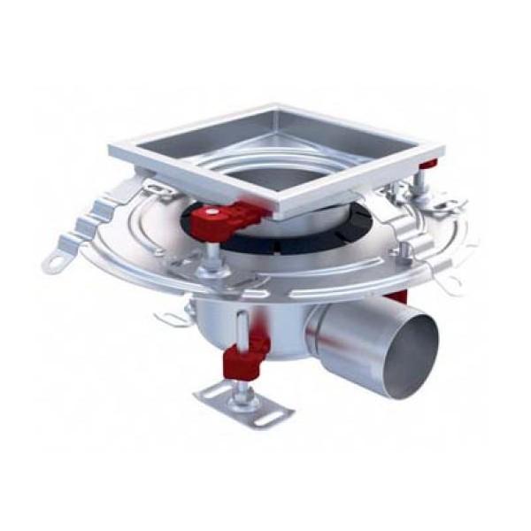 siphon eskis hygienefirst avec grilles inox 300 x 300 mm sortie horizontale 110 mm stl. Black Bedroom Furniture Sets. Home Design Ideas
