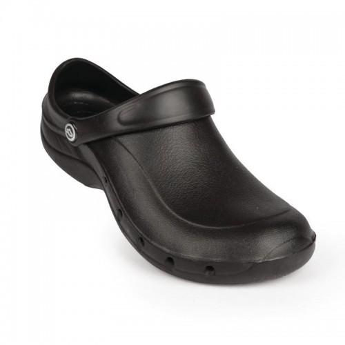 Sabots crocs professionnel Toffeln EziProtekta, couleur noir