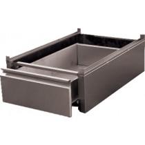 Bloc 1 tiroir monobloc GN1/1 inox ferritique pour tables, L 450 x P 580 x H 180 mm