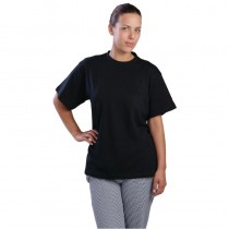 Tee-shirt noir, 100 % coton, taille : Large - Extra Large