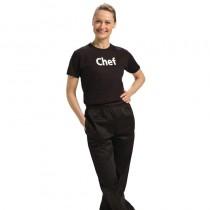 Tee-shirt imprimé noir, structure 100% coton, taille : L - M