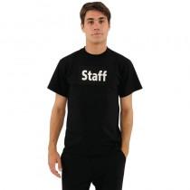 Tee-shirt imprimé noir pour homme, structure 100% coton