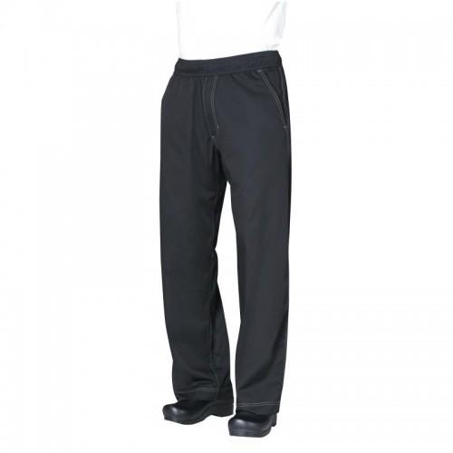 Pantalon baggy professionnel unisexe avec cool vent, noir