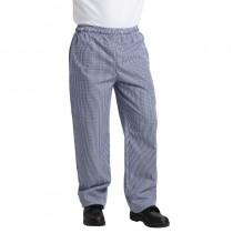 Pantalon chef unisexe Whites Chefs Clothing, carreaux bleus, tailles L - XL