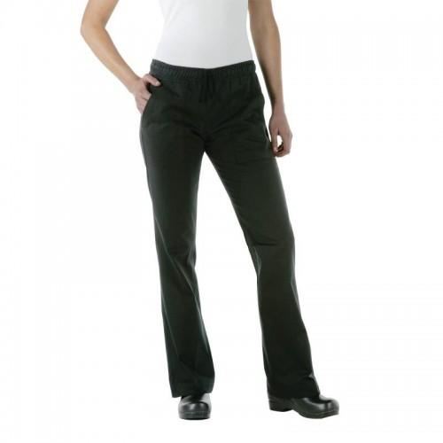 Pantalon de cuisinier femme Chef Works Executive, couleur noir