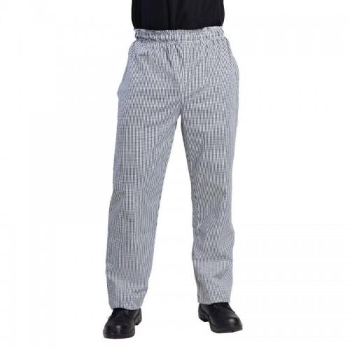 Pantalon de cuisinier unisexe Whites Vegas, petits carreaux noirs et blancs