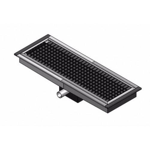 caniveau de sol cuisine professionnel sortie horizontale l 1000 x p 200 x h 20 mm stl sarl. Black Bedroom Furniture Sets. Home Design Ideas