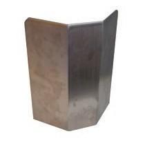 Protections d'angle , inox , fixes demi-lune , pliée , 250 x 150 x 350 mm