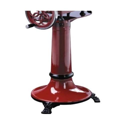 Piédestal en fonte avec roues pour trancheur manuel à l'ancienne