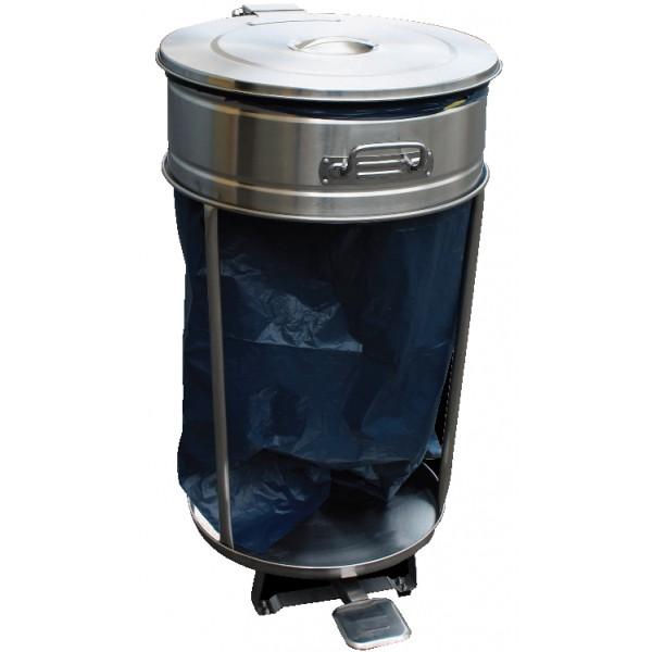 support roulant inox pour sacs poubelles de 110 litres professionnelle. Black Bedroom Furniture Sets. Home Design Ideas
