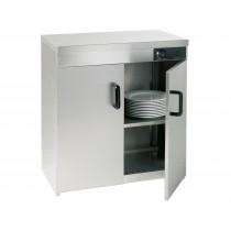 Armoire chauffe-assiettes 2 portes, L 750 x P 510 x H 855 mm