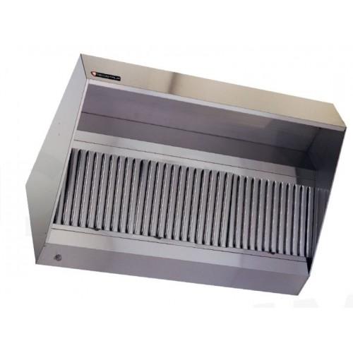 HOTTE STATIQUE INOX L X P X H Mm Sans Moteur STL SARL - Hotte de cuisine sans moteur