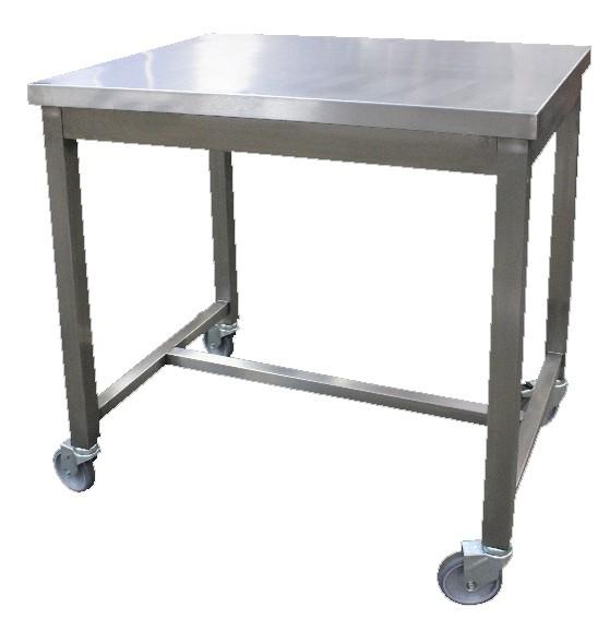 table de service soud e 1 niveau sur roues zingu es p 600