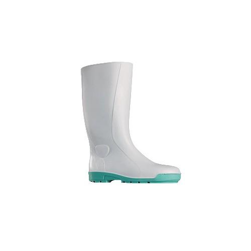 Paire de bottes professionnelle, en PVC, avec embout en acier, blanche