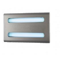 Carter inox design avec lampe à économie d'énergie et glu, L 495 x P 280 x H 65 mm