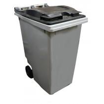 Container à déchet sur roues, polyéthylène haute densité (HDPE), 360 L, L 620 x P 85 x H 1090 mm